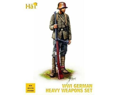WWI German heavy weapons set Hat 8110 1:72