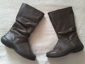 5 uk Bottes cuir mystᄄᄄre hiver chaud 4 en plus taupe fgvmI7yYb6