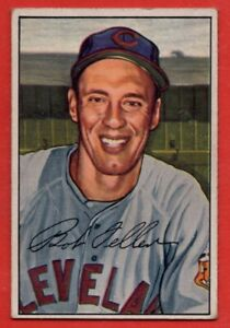 1952 Bowman #43 Bob Feller VG-VGEX+ WRINKLE HOF Cleveland Indians FREE SHIPPING