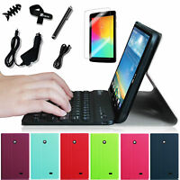 For Lg Pad 7.0 7-inch Tablet Bluetooth Keyboard Pu Leather Case Cover Bundle