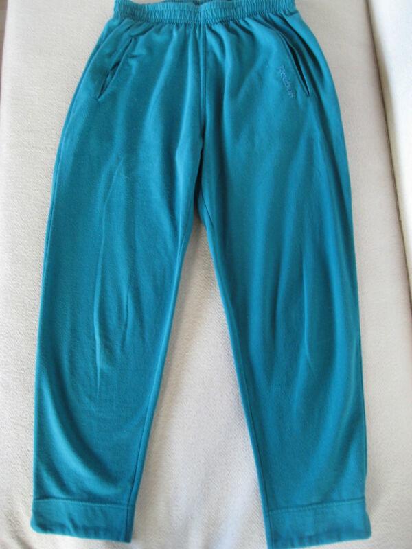 100% Wahr Reebok Damenjogginghose - Vintage - Gr. 40 Grün Mit Buntem Beinumschlag