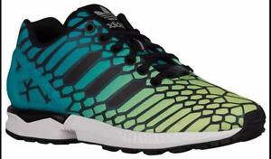 new arrivals a2e5a fa3a9 Image is loading Adidas-Originals-Kids-Unisex-ZX-Flux-Running-Shoes-
