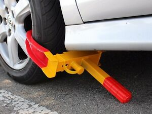 Auto Car Boat Wheel Locks Clamp Boot Tire Claw Trailer Truck Anti-Theft Towing