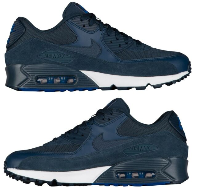 Nike Air Max 90 Essential Black Wolf Grey Mens Running Shoes Trainers 537384 053 UK 9