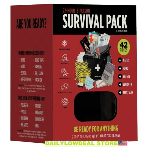 NEW Details about  /Augason Farms 72-Hour Survival PackEmergency Food and Gear Water