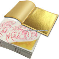 """GOLD LEAF LEAVES GENUINE REAL PURE 24K GILDING SHEET SHEETS 1.3"""" x 1.3"""" EDIBLE"""