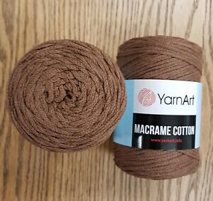 3mm 1 full roll 250g YarnArt Macrame Cotton Cord Braided String Rope red