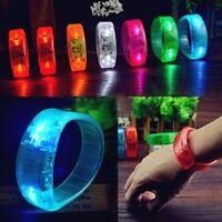 LED Armband Leuchtarmband Blinken Flash leuchtend Band Reflektor Party Disco DJ