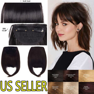 US-Thick-Neat-Fringe-Bangs-Hairpiece-Clips-in-as-100-Real-Human-Hair-Extensions