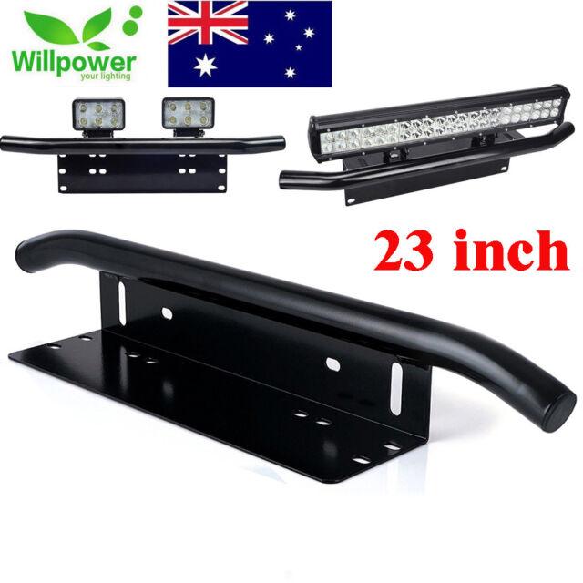 23inch Offroad LED Light Bar Front Bumper License Plate Mount Bracket Holder