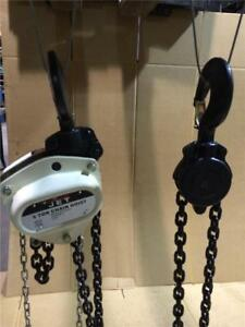 5-TON-JET-Chain-Fall-Hoist-10ft-Lift-L100-500WO-10-107100-Overload-Protection