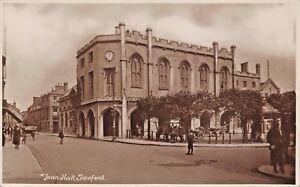 SLEAFORD-LINCOLNSHIRE-UK-TOWN-HALL-W-K-MORTON-amp-SONS-PHOTO-POSTCARD-1910s