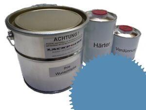 1,5 Liter Set 2K Floor Color Floor Ral 5024 Vinyl-Epoxid-Lack Lackpoint Shine