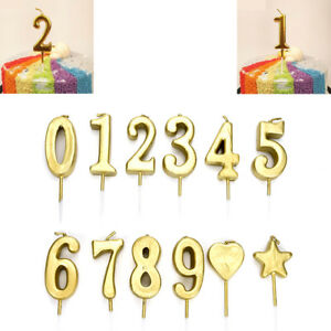 Image Is Loading 1Pcs Number 0 9 Happy Birthday Cake Candles
