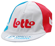TEAM OMEGA PHARMA - LOTTO  EURO RACE TEAM GRAY & RED CYCLING CAP - OSFM