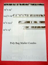 48 Poly Bag Mailer Variety Pack 4 Medium To Large Size Shipping Envelope Bags