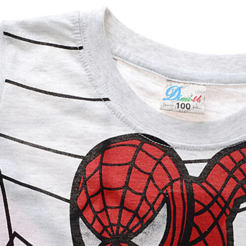 Kinder Jungen Kleinkinder Spiderman T-Shirt Kostüm Sommer Kurzärmelig T-Shirts