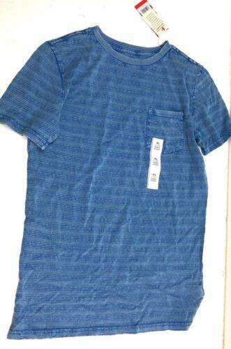 Boys/' Textured Stripe Pocket T-Shirt XL NEW L Cat /& Jack  Bluebell XS