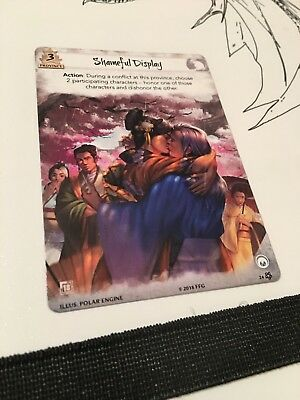 L5R PROMO FULL ART SHAMEFUL DISPLAY LEGEND OF THE FIVE RINGS LCG