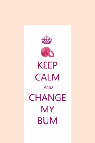 Keep Calm and Change My Bum Soft Padded Large Baby Changing Mat Waterproof Mats