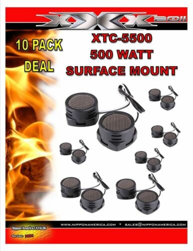 10 PAIRS 500w Tweeters Built-in Crossover High Frequency Car Truck Boat Stereo X