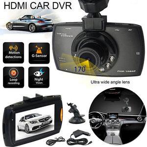 "2.3"" Vehicle 1080P Car DVR Camera Video Recorder Dash Cam G-Sensor Dual Lens OUY"