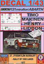 DECAL 1/43 FIAT 131 ABARTH T.MAKINEN 1000 LAKES 1977 (LIGHT) (01)