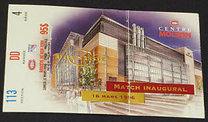 1996-MONTREAL-CANADIENS-vs-NEW-YORK-RANGERS-NHL-INAUGURAL-MATCH-TICKET-STUB