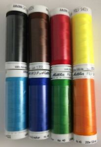 Mettler-Poly-Sheen-Polyester-Embroidery-Thread-40wt-220yd-One-of-8-Colors