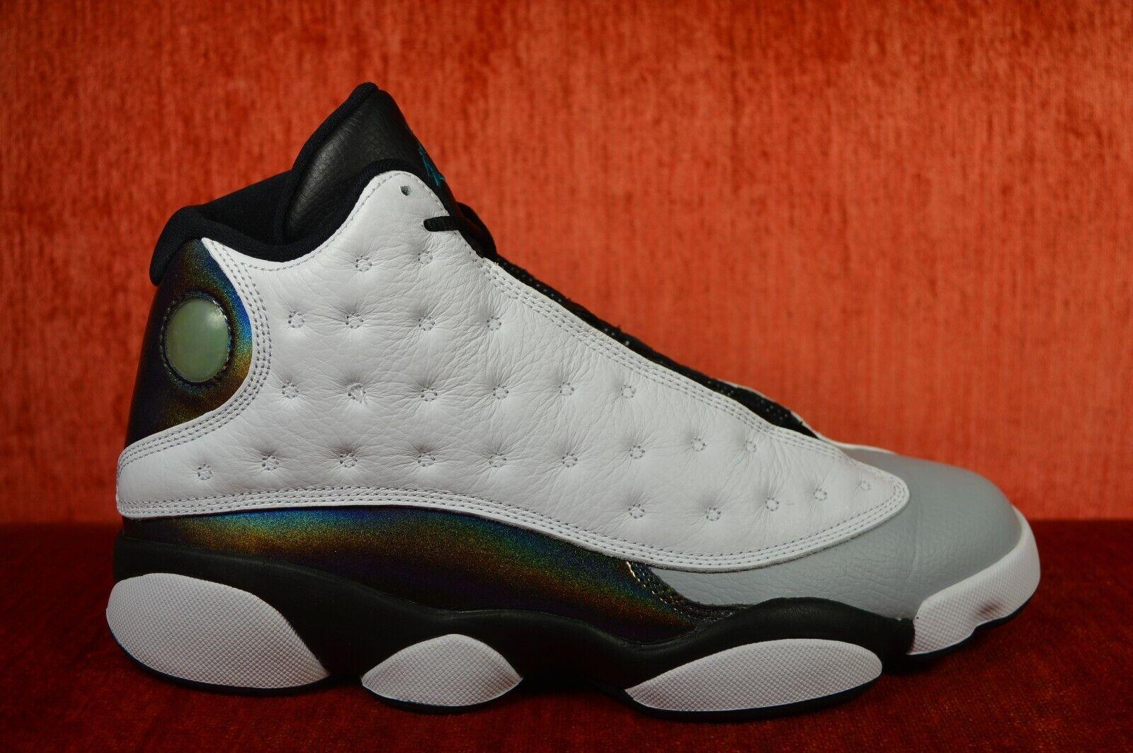 WORN TWICE Nike Air Jordan XIII Hologram 13 Barons White Grey 414571-115 Size 9