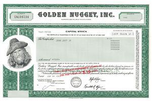 Golden-Nugget-gt-Las-Vegas-Nevada-casino-stock-certificate-Steve-Wynn-letter