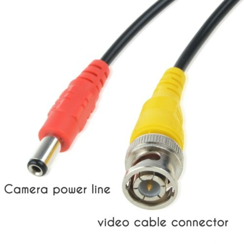 25ft Video Power BNC Cable Cord Lead Wires for Zosi CCTV DVR Security Cameras