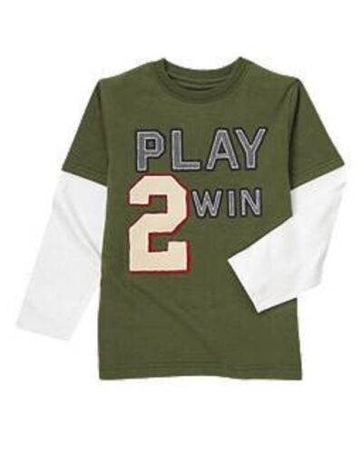 GYMBOREE BOYS BASEBALL CHAMP COLLECTION PLAY TO WIN TEE SIZE 4 OR 5  NWT