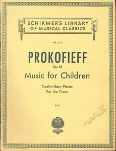 Details About Prokofieff Music For Children Op 65 Easy Pieces For Piano Songbook Tarantella