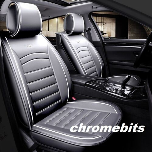 Car Van Camper  1+1 High-Quality Deluxe Grey PU Leather Front Seat Covers
