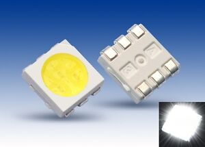 S922-50-Stueck-SMD-LED-PLCC-6-5050-weiss-3-Chip-LEDs-white