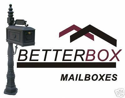 Mieux Box-Verde-Fonte d/'Aluminium Boîte aux lettres avec Paper Box