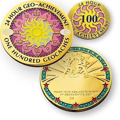 Award Your Geocaching Success 50 Finds Geo-Milestones Geocoin And Pin Set