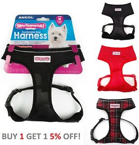 Ancol-Comfort-Soft-Mesh-Padded-Adjustable-Dog-Puppy-Comfortable-Harness-Tartan