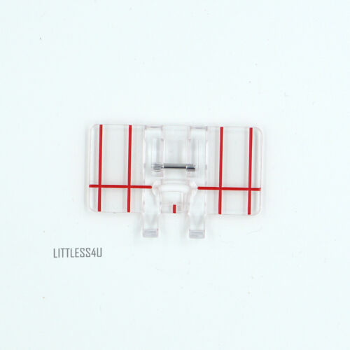 Clear Parallel Stitch Stitcher Foot Presser Tool for Domestic Sewing Machine