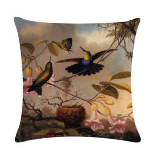 Home-textile-Bird-Soft-Linen-Cushion-Cover-Pillowcase-Decor-Pillow-Cover-G