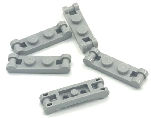 Lego Lot of 5 New Light Bluish Gray Plates Modified 1 x 2 with Handles on Ends