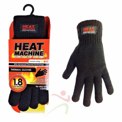 NUOVA macchina di calore Unisex Black Winter 100% Acrilico Caldo Guanti Termici Isolati