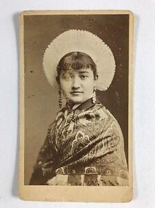 Image Is Loading Very Rare Victorian Carte De Visite CDV Lady
