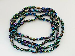 Vintage-49-034-1950s-Sparkly-Aurora-Borealis-Faceted-Glass-Necklace