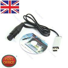 DMX512 Computer PC Satge Lighting Controller Dimmer USB to DMX Interface Adapter