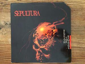 Sepultura-seul sous The Remains LP 1989 vinyle en Comme neuf-Condition, COVER PROMO-cu