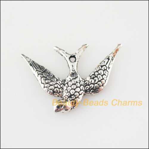 15Pcs Tibetan Silver Tone Animal Peace Dove Charms Pendants 17x24mm