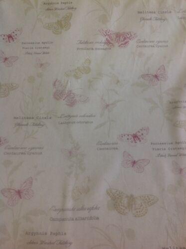 "tapicería FRYETT/'S Algodón /""Papillon Primavera/"" Mariposa De Tela De Cortina artesanía."