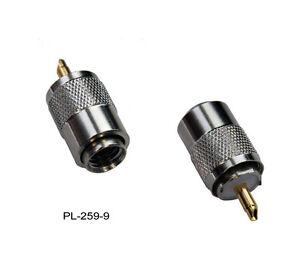 PLAQUÉ NICKEL VHF CB Connecteur PL258 double femelle Connecteur pour PL-259